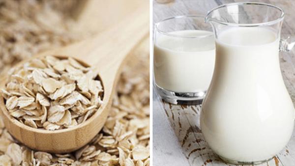 Mặt nạ sữa tươi và bột yến mạch