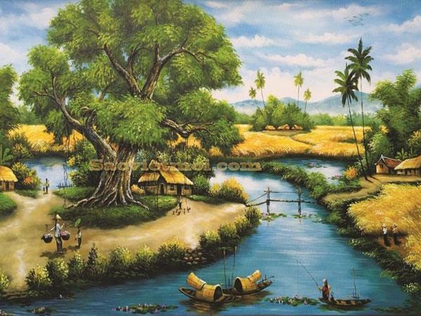 Triển lãm các sáng tác tranh sơn mài của họa sĩ Trần Văn Bình